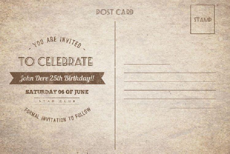 Vintage Birthday Invitation Templates Free