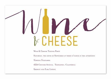 Wine And Cheese Invitation Template Free
