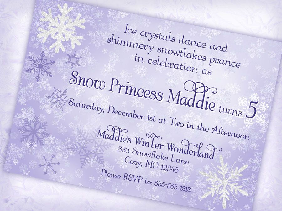 Winter Wonderland Invitations Templates Free