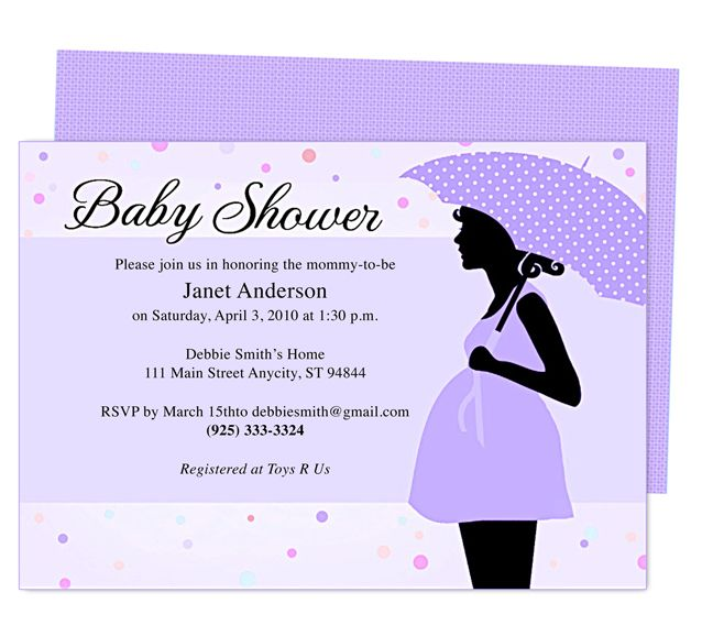 Word Baby Shower Invitation Template