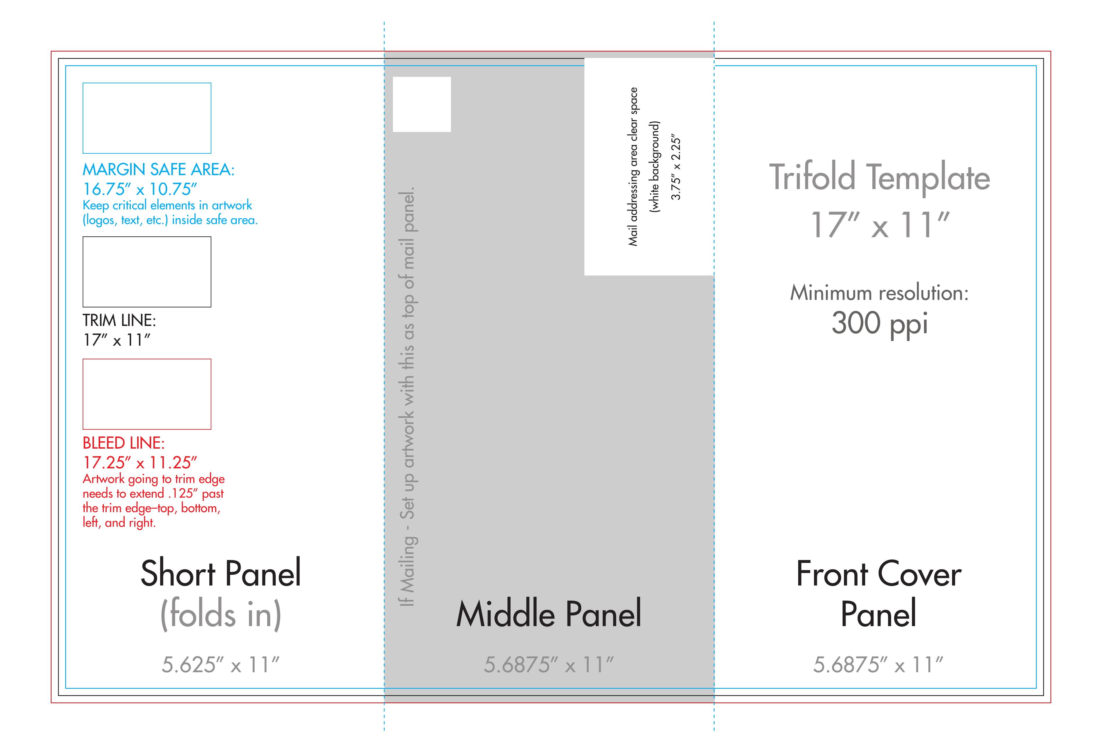 11x17 Tri Fold Brochure Template