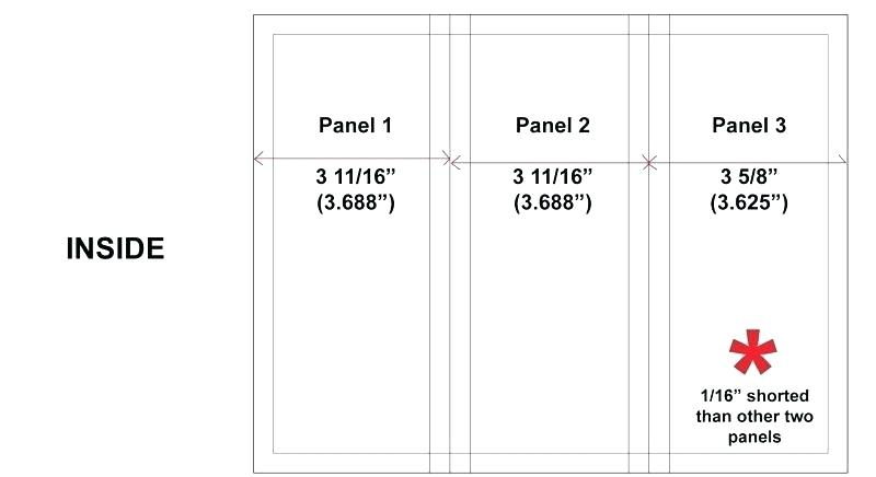 4 Panel Gate Fold Brochure Template
