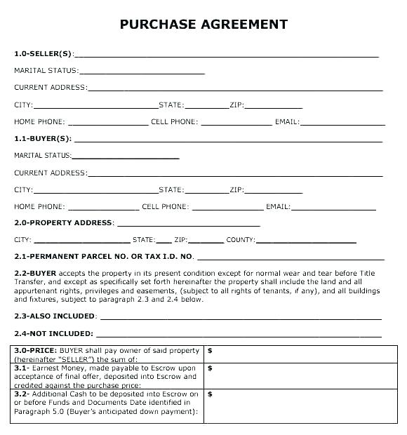 50 Down Payment Contract Template
