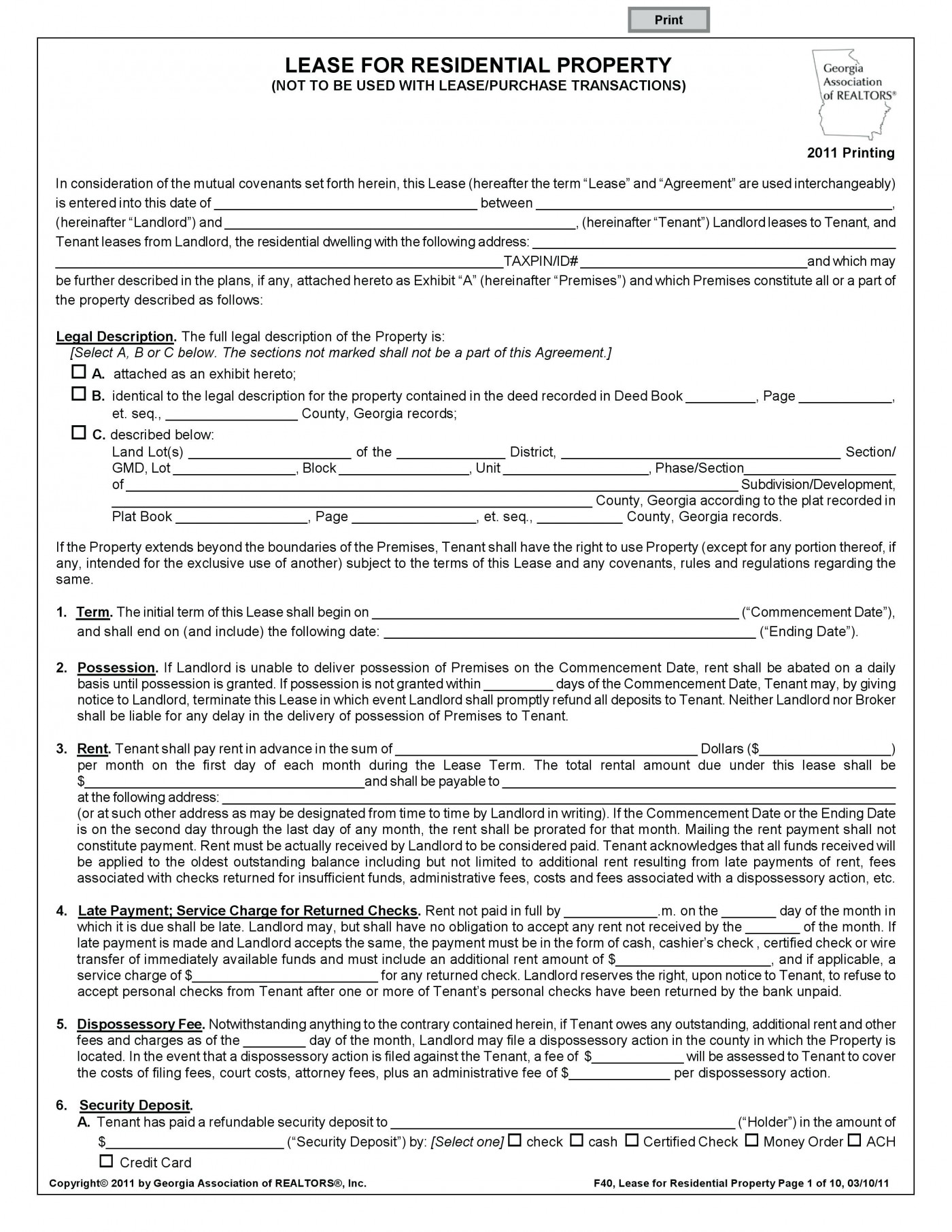 6 Month Rental Agreement Template