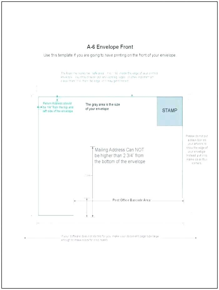 A4 Window Envelope Address Template Word