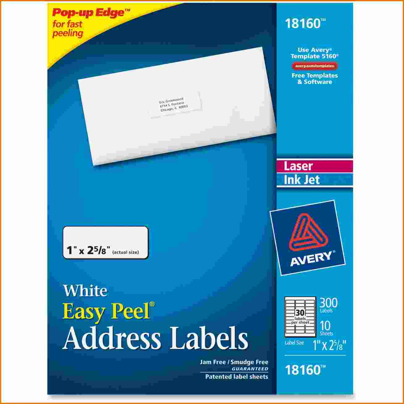 Address Label Template Avery 18160