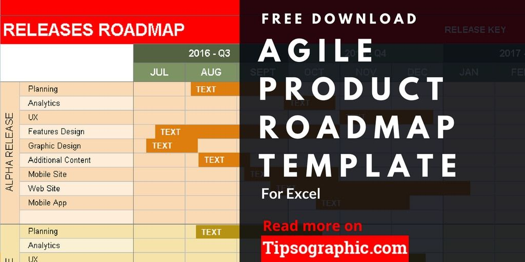 Agile Product Roadmap Excel Template