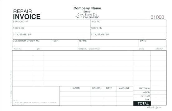 Air Conditioning Invoice Template