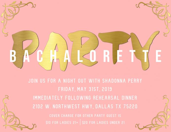 Bachelorette Party Invite Template