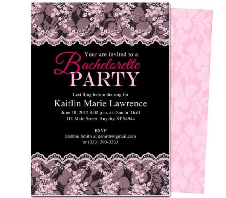 Bachelorette Party Invites Free Templates