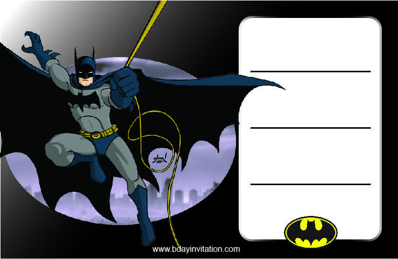 Batman Invitation Template Free