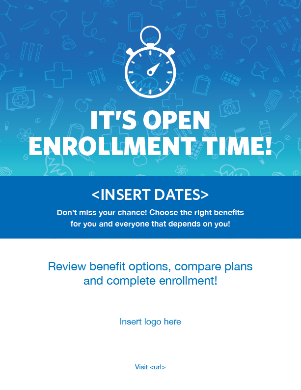 Benefits Open Enrollment Flyer Template