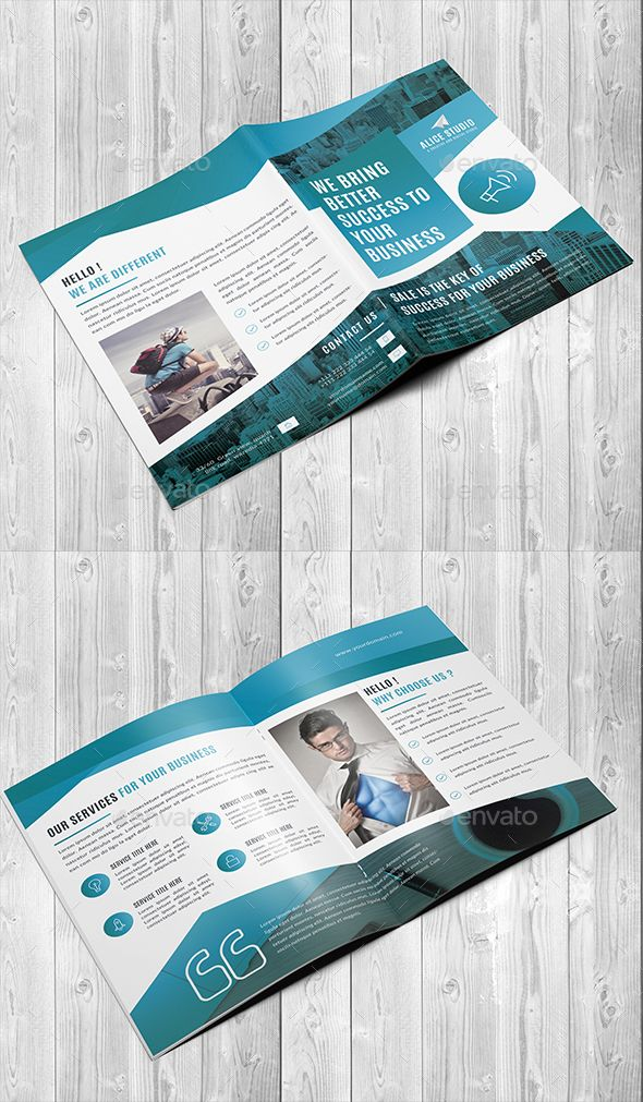 Bi Fold Brochure Template Illustrator