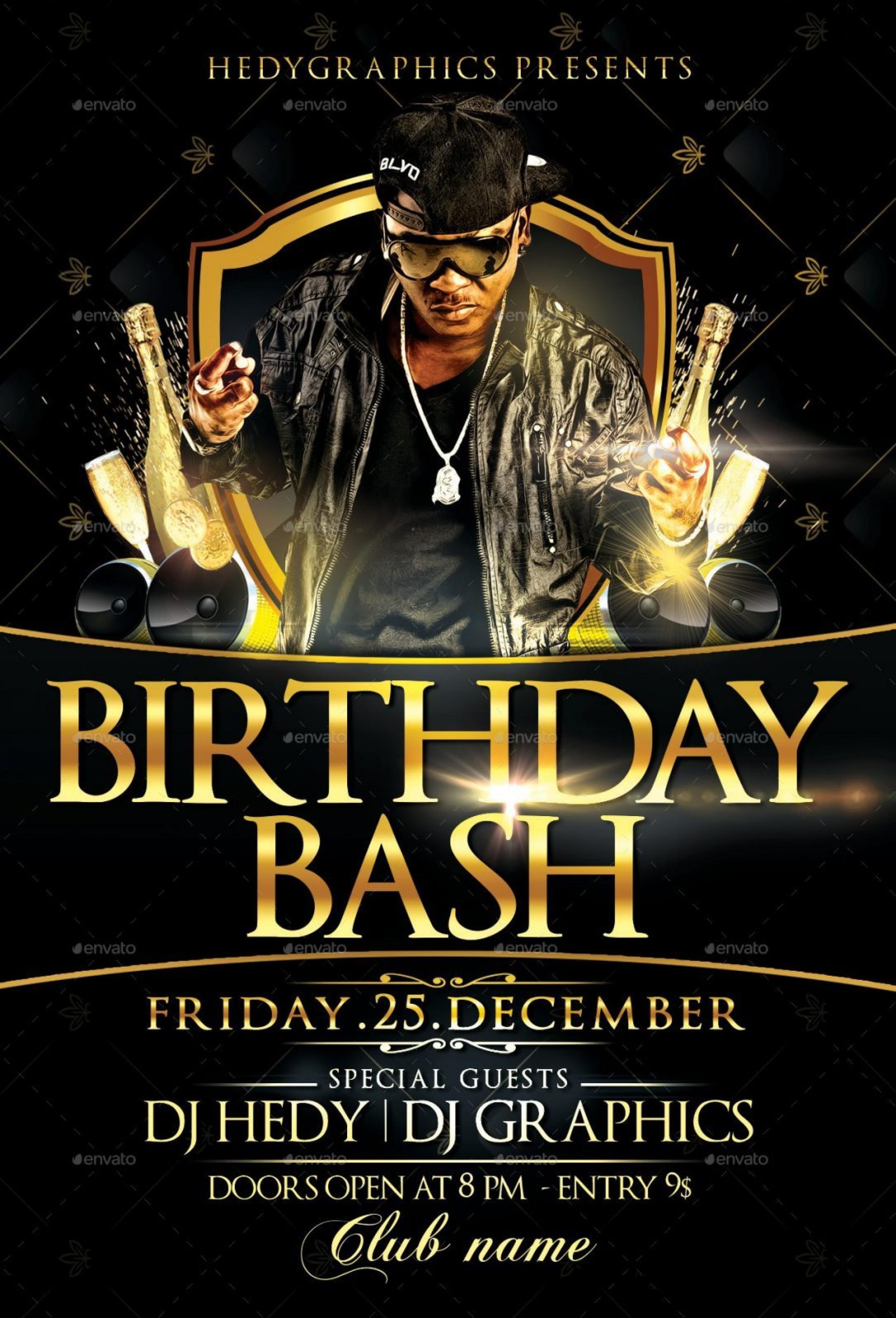 Birthday Bash Flyer Templates Free
