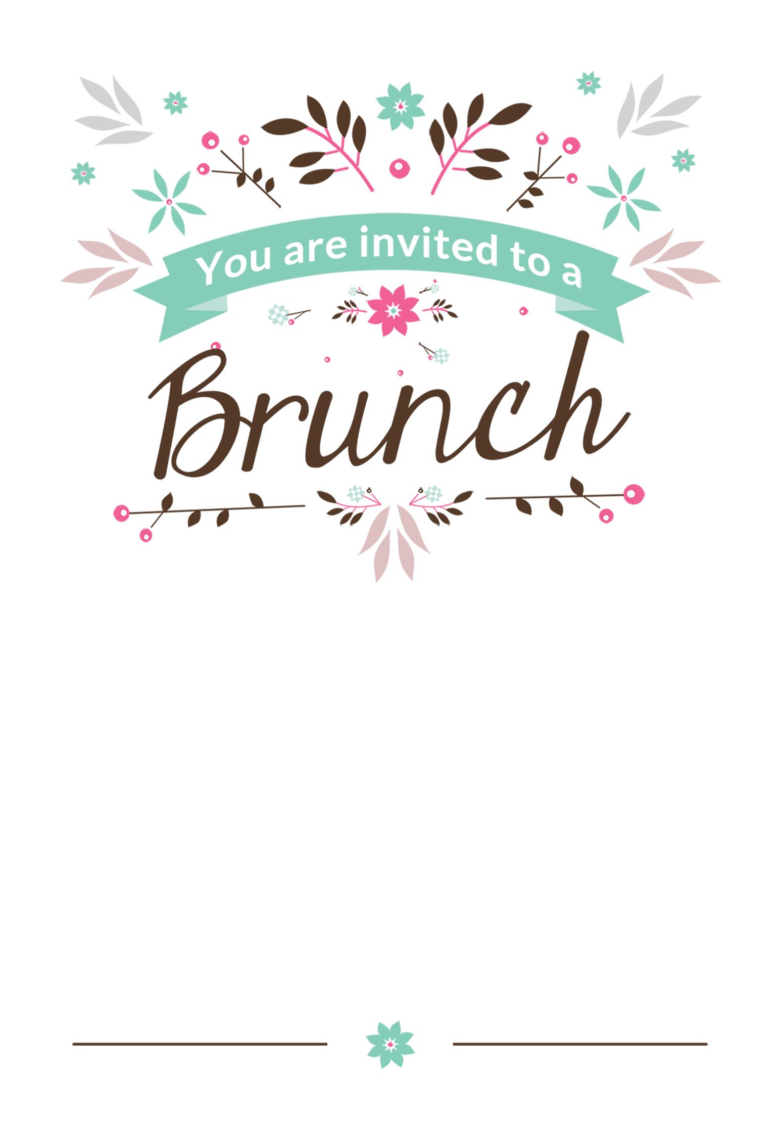 Blank Brunch Invitation Template