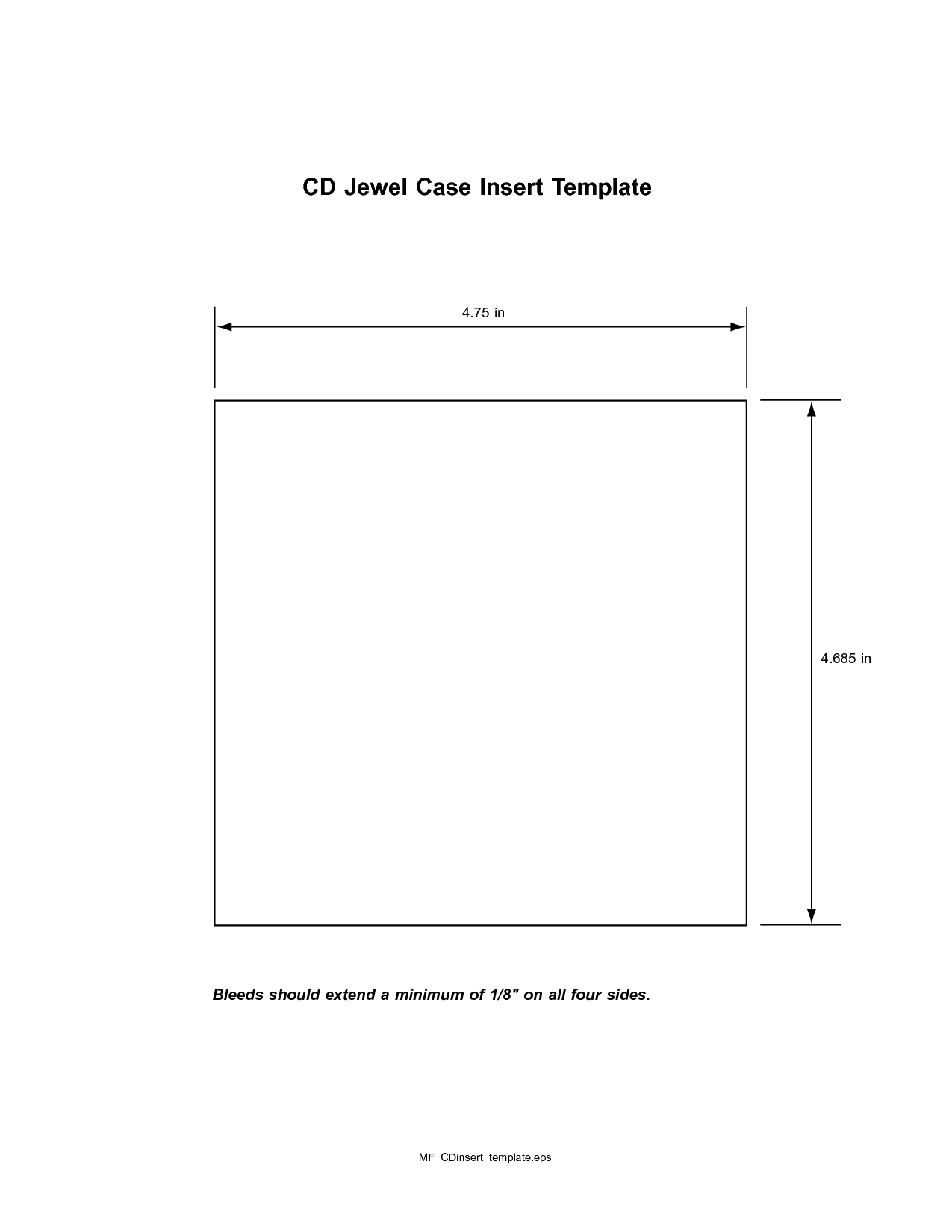 Blank Cd Insert Template