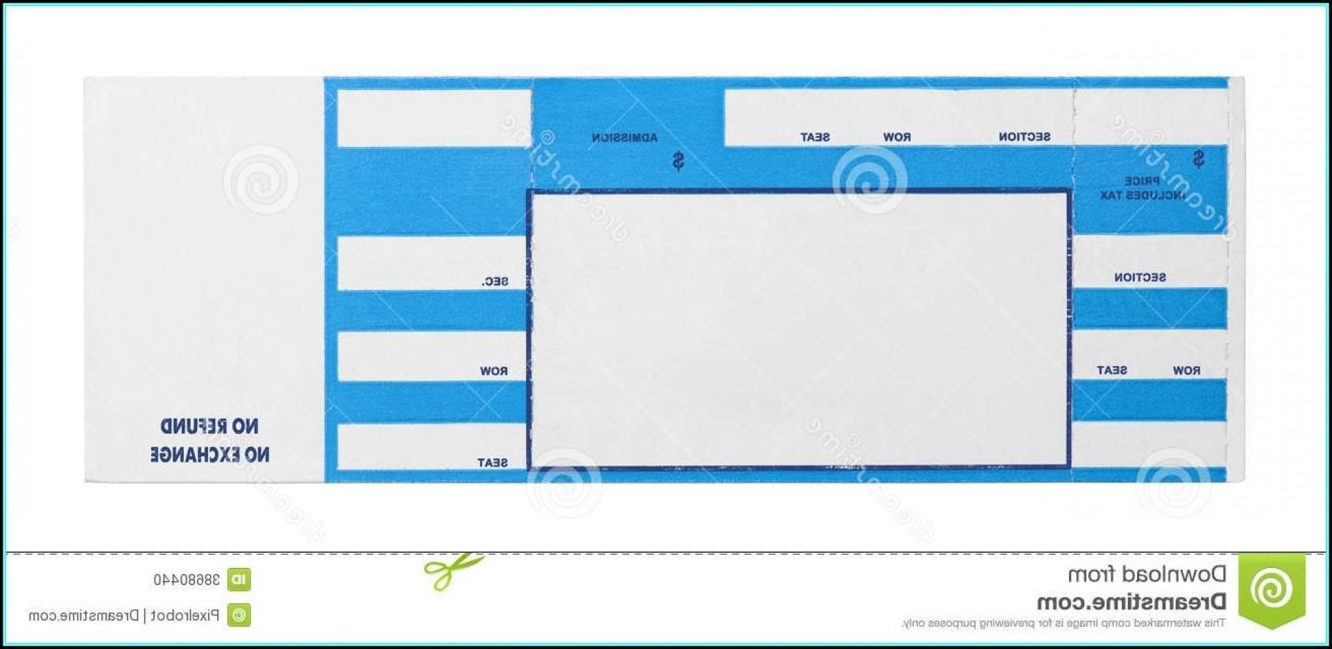 Blank Concert Ticket Gift Template