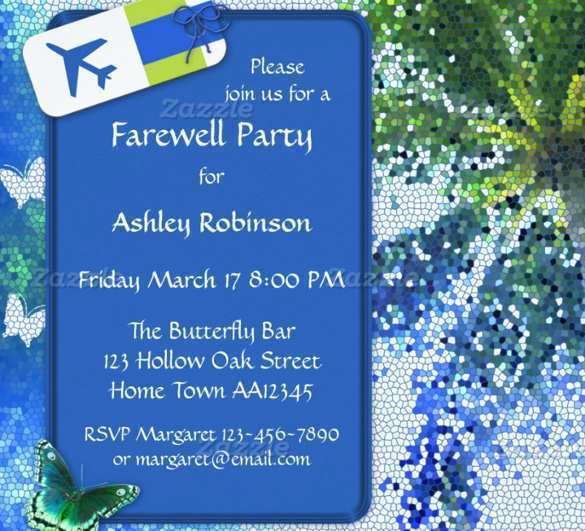 Blank Farewell Invitation Templates