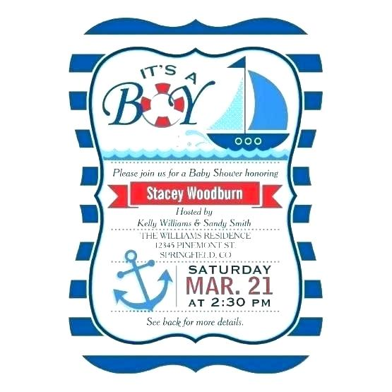 Blank Nautical Invitation Template Free
