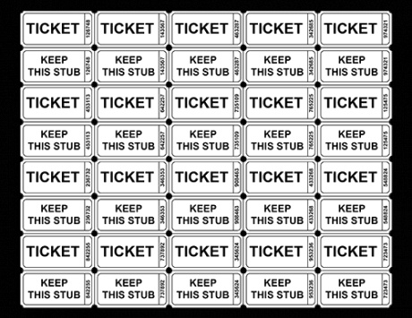 Blank Numbered Raffle Ticket Template
