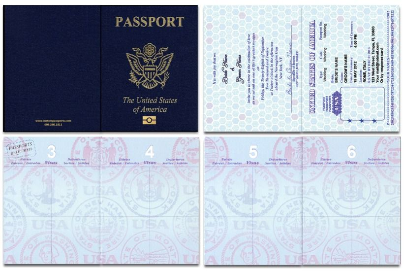 Blank Passport Wedding Invitation Template
