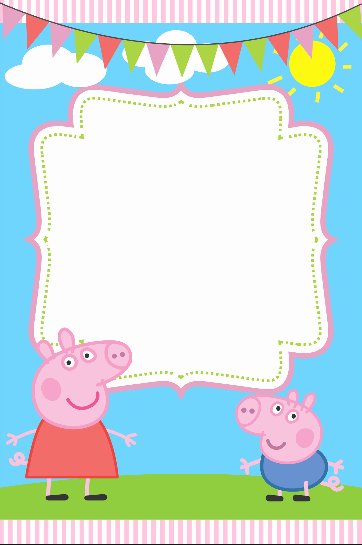 Blank Birthday Invitation Template Inspirational Blank Peppa Pig Invitation