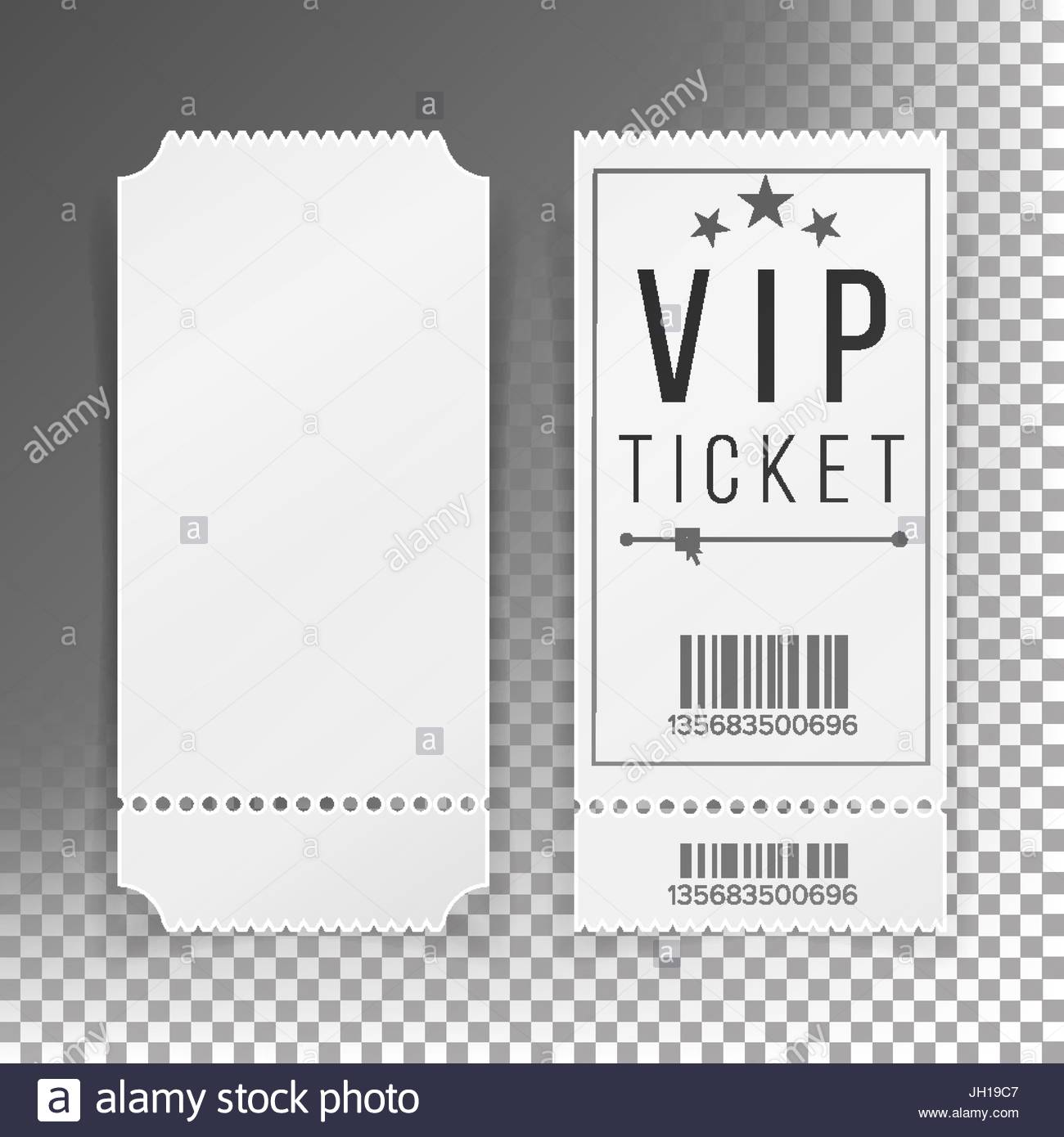 Blank Theater Ticket Template