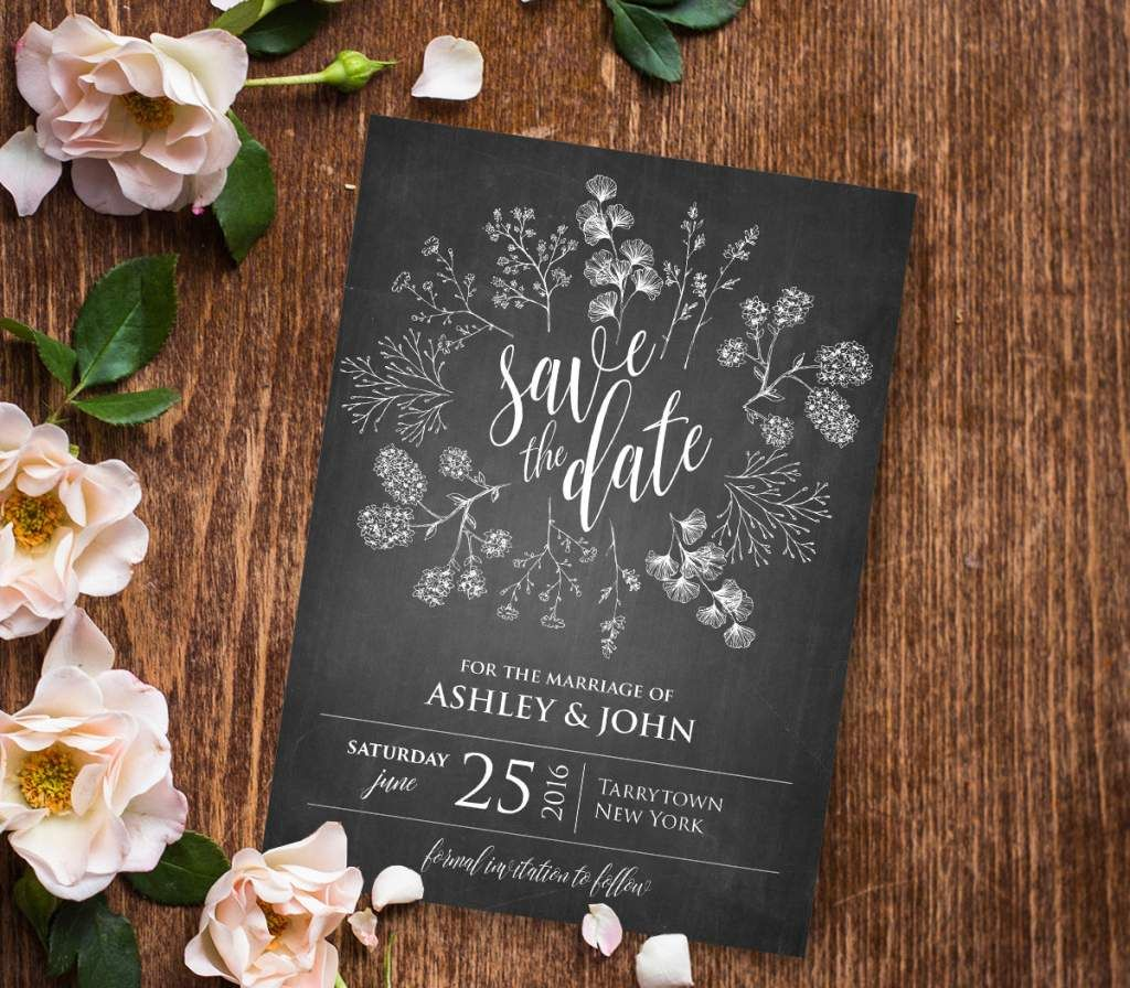 Blank Wedding Reception Invitation Templates