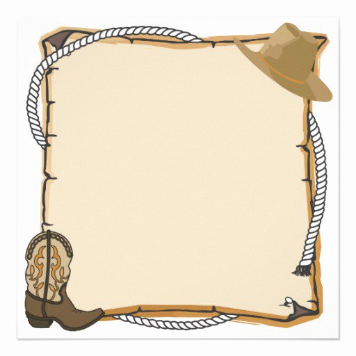 Western Party Invitation Blank Templates