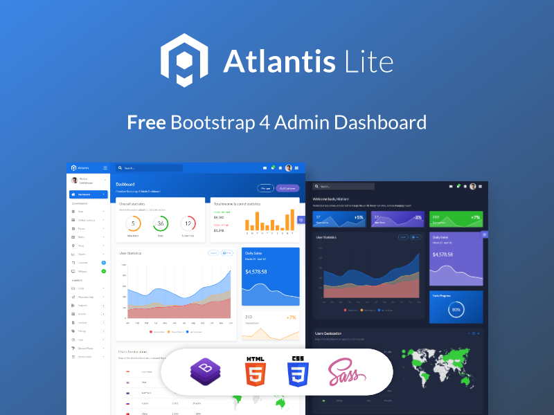 Bootstrap Dashboard Templates Free Download