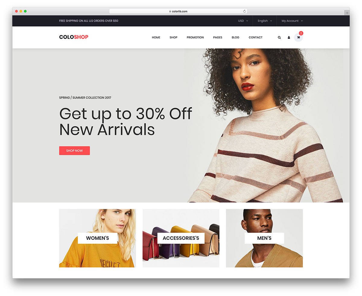 Bootstrap Ecommerce Website Templates