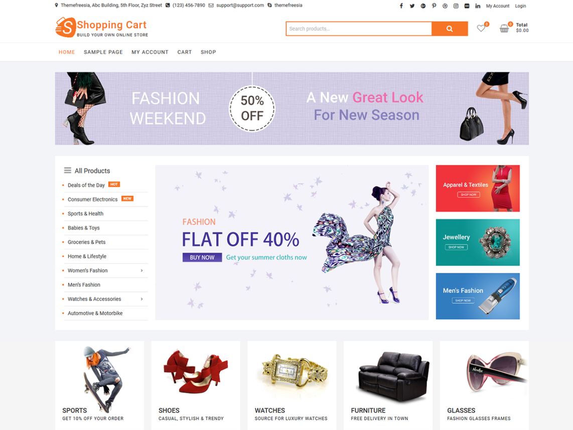 Bootstrap Shopping Cart Template Free Download