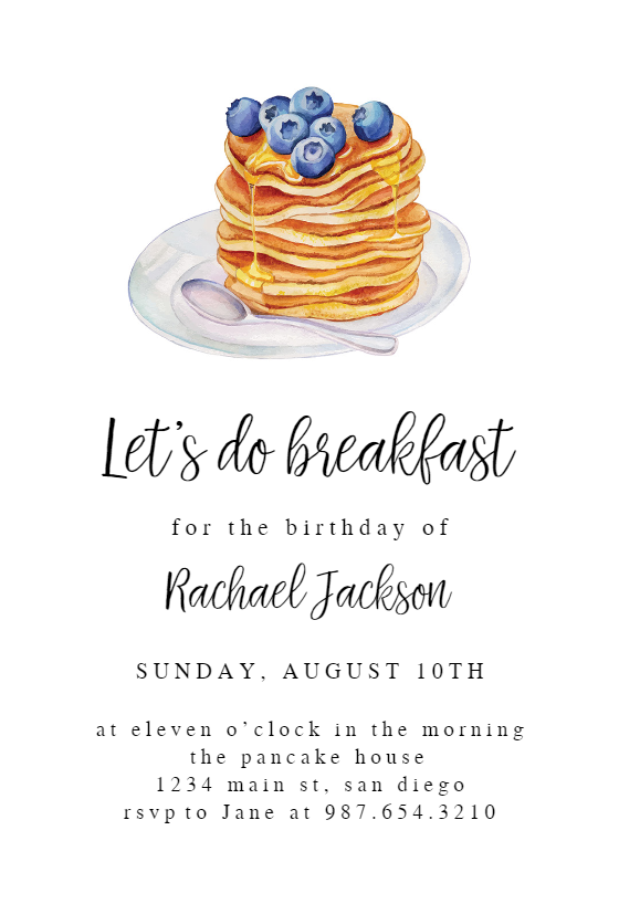 Breakfast Invitation Template Free