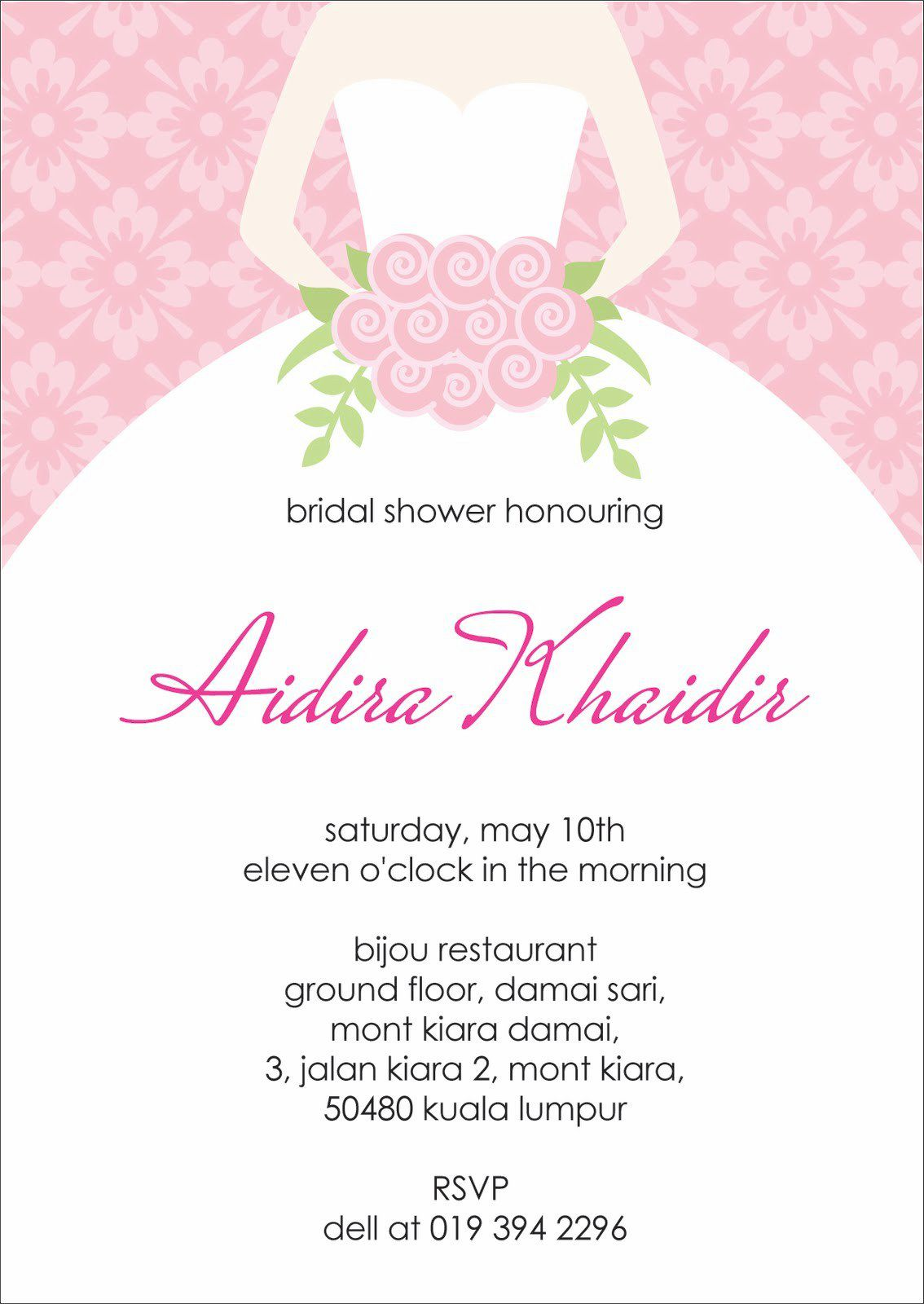 Bridal Shower Invitations Templates Free Download