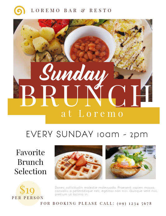 Brunch Flyer Template