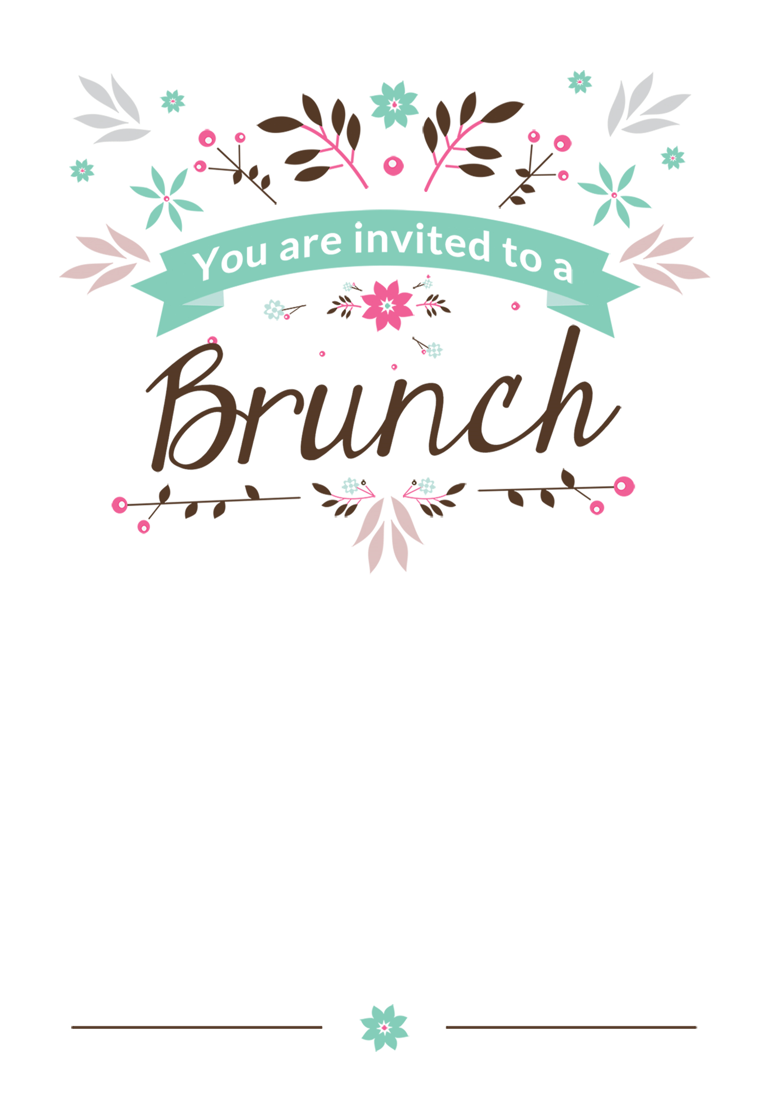 Brunch Invitation Template Free