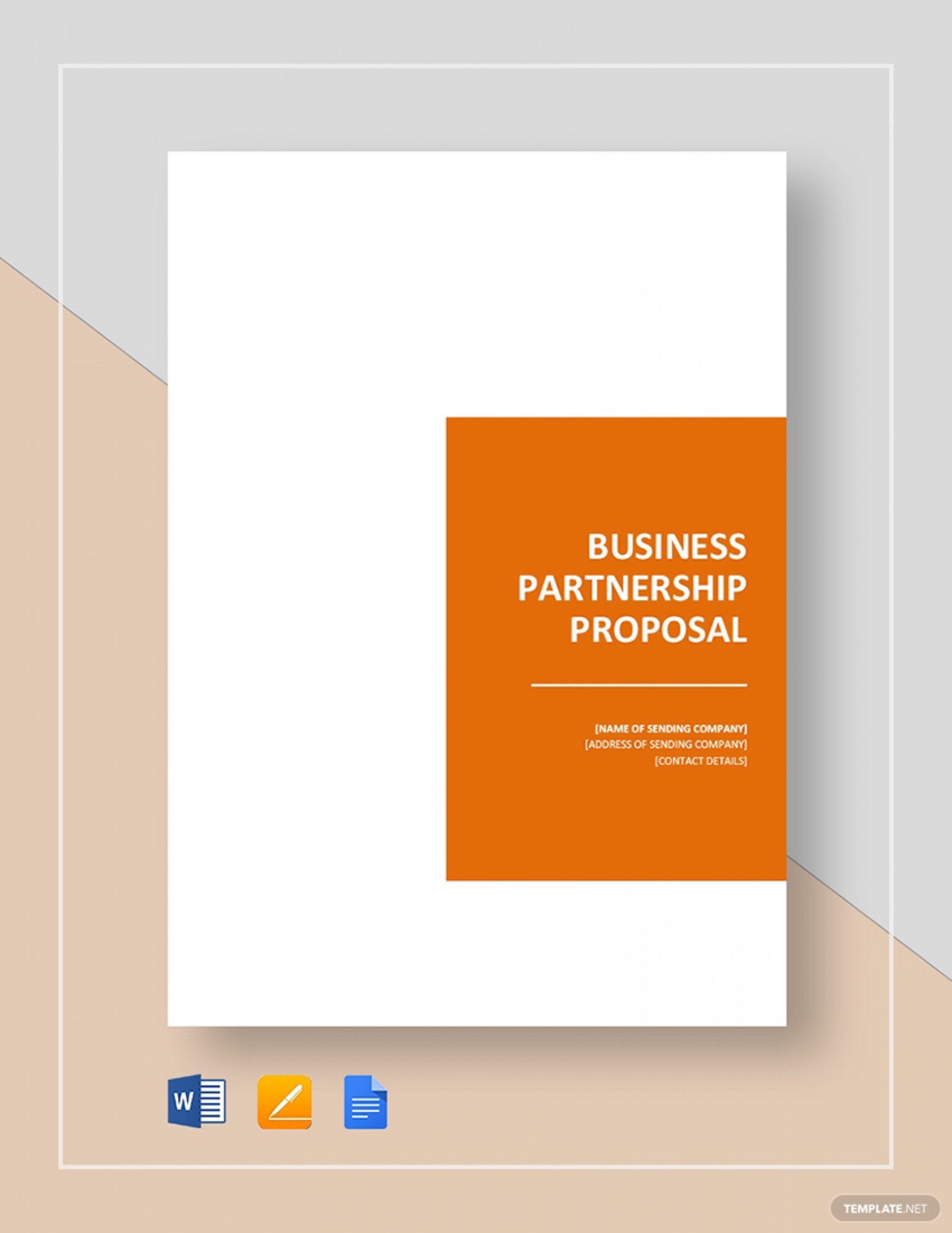 Business Partnership Proposal Template Doc