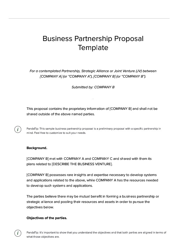 Business Partnership Proposal Template Pdf