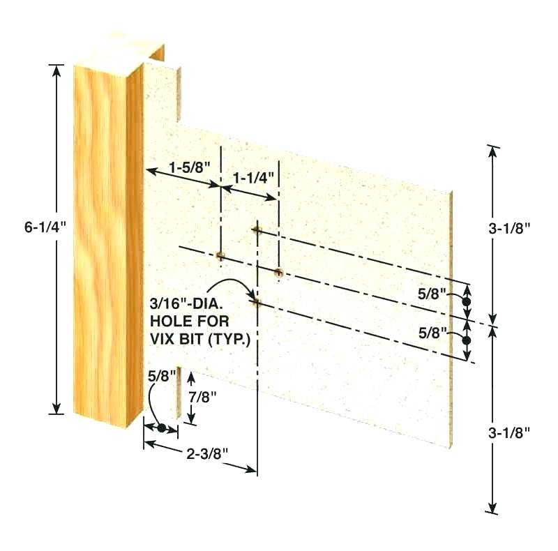 Cabinet Hinge Installation Template