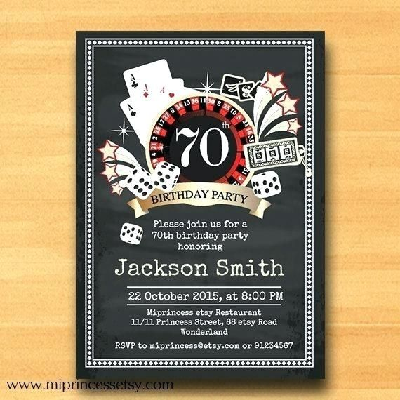 Casino Theme Party Invitation Template