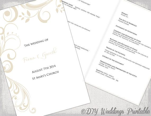Catholic Wedding Booklet Template