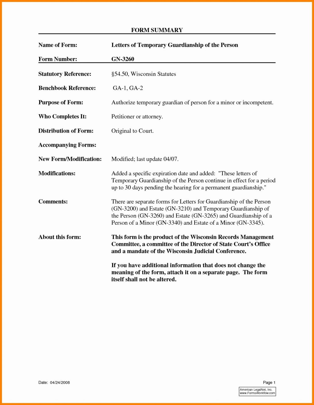 Child Guardianship Letter Template