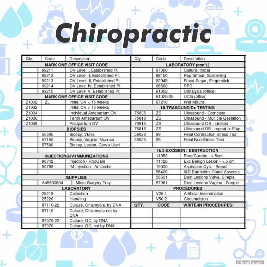 Chiropractic Superbill Template