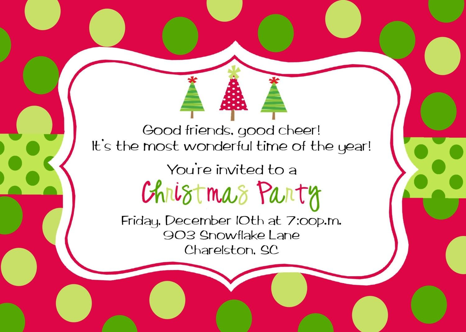 Christmas Brunch Invitation Template