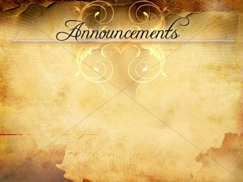 Church Announcements Template