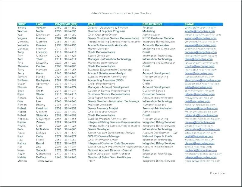 Church Membership Directory Template