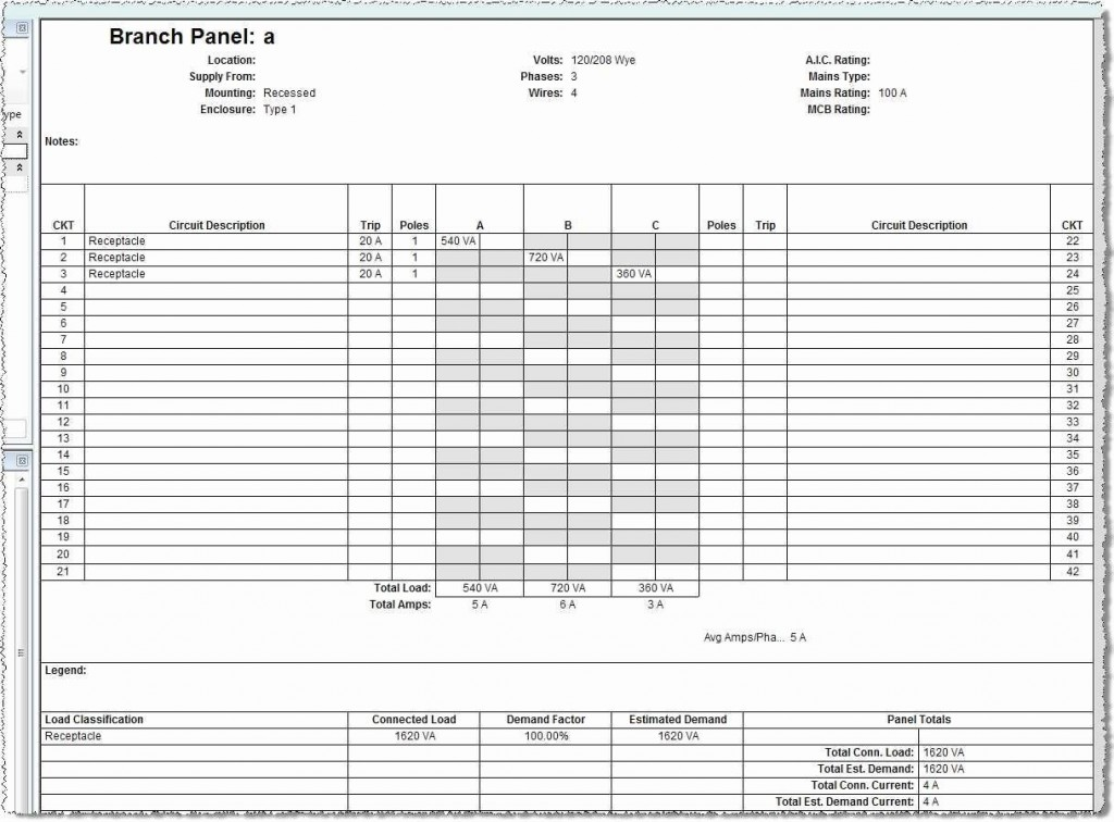 Circuit Breaker Panel Label Template Excel