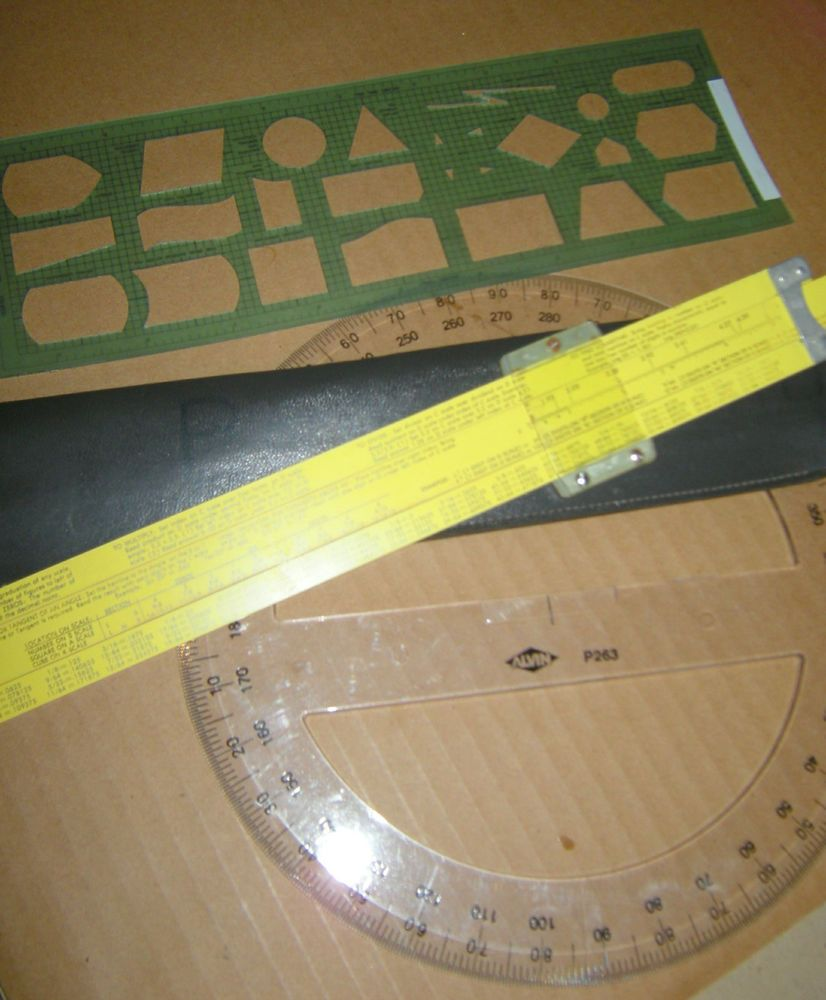 Circular Slide Rule Template