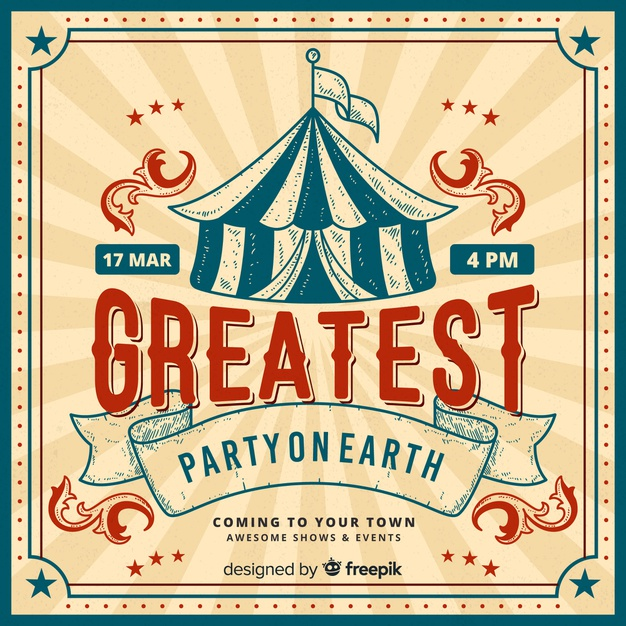 Circus Invitation Template Free Download