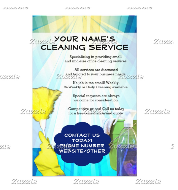 Cleaning Business Flyer Templates